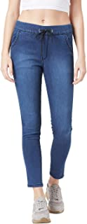 The Dry State Women Denim Blue Coloured Solid Jeans Jogger WJEA_607B_1999_34