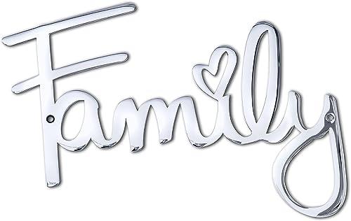 """Way Of Hearts - Letrero """"Family"""" de metal - Decoración de granja - Arte de pared familiar - Decoraciones para decorac..."""
