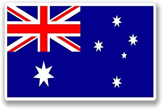 2 x 10cm/100mm Australia Australian Flag Vinyl Sticker Decal Laptop Car Travel Luggage Label Tag #9734