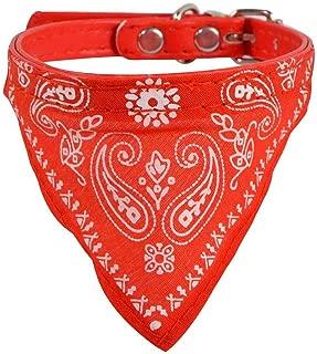 Confezione Regalo per Cani di Piccola Taglia by Robelli Merry Christmas 6 Cappelli di Babbo Natale, 6 collari a Bandana in Velluto