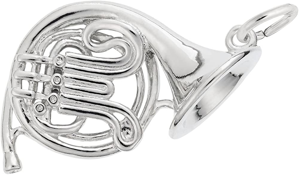 Rembrandt Charms Industry No. 1 Sterling Silver French Horn on a Charm 18 A surprise price is realized o 16