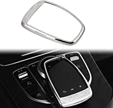 PGONE Bling Crystal Accessories Parts Trim Touchpad COMAND Screen Central Multimedia Control Caps Covers Interior Visors Decorations for Mercedes Benz W204 X204 W166 X166 C Class GLK AMG Wom(Touchpad)