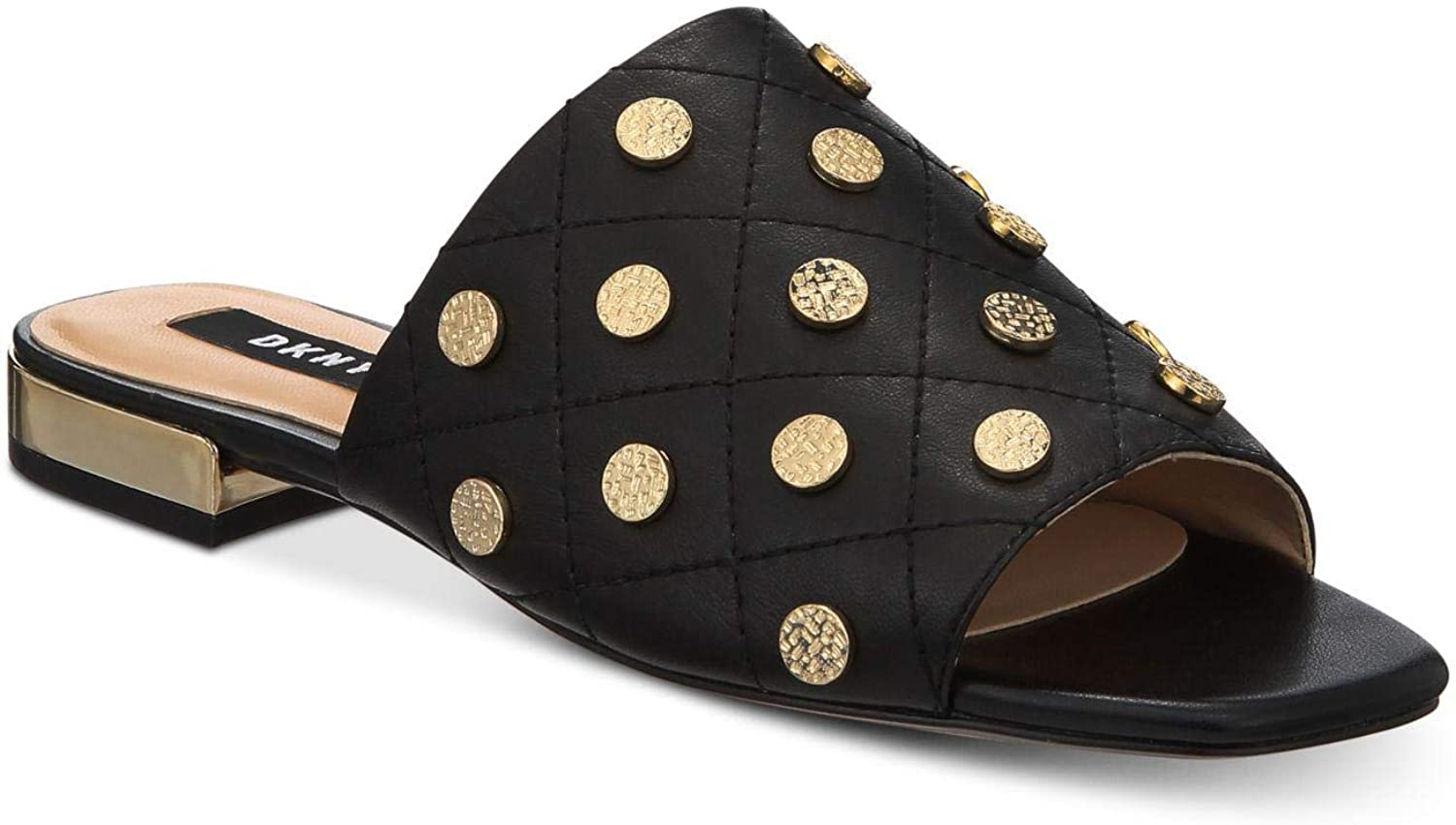 DKNY Womens Roy Leather Open Toe Mules