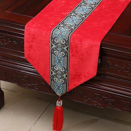 buscando agente de ventas Easy Easy Easy Care Simple Suave al Tacto Manteles de Estilo Europeo Mantel Boda, 33  300 CM (Color  rojo, Tamaño  33  300 CM)  para barato