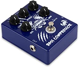 Caline Electric Guitar Effects Pedal Mini Bass Compressor True Bypass Effect Pedal Aluminium-Alloy Blue CP-45