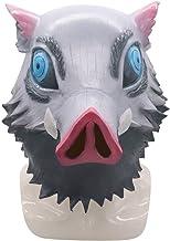Demon Slayer Hashibira Inosuke Mask Anime Pig Mask Halloween Costume Cosplay for Adult cxjff