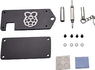 Raspberry Pi Zero Black / Silver用のドライバー付き超薄型V1 / V2 CNCアルミニウム合金保護ケースシェル