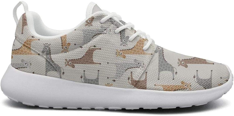 Ipdterty Wear-Resistant Walking Sneaker Animal Giraffe Cartoon Pattern Woman Comfortable Running shoes
