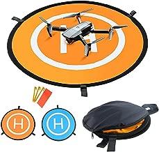 Pawaca Drones Landing Pad - Portable 55cm/21.65inch Universal Waterproof Fast-Fold Landing Pads for Parrot,Yuneec,DJI Phantom 3/4,3DR Solo Drone,DJI Mavic Pro,DJI Inspire, Antel Robotic X-star&More