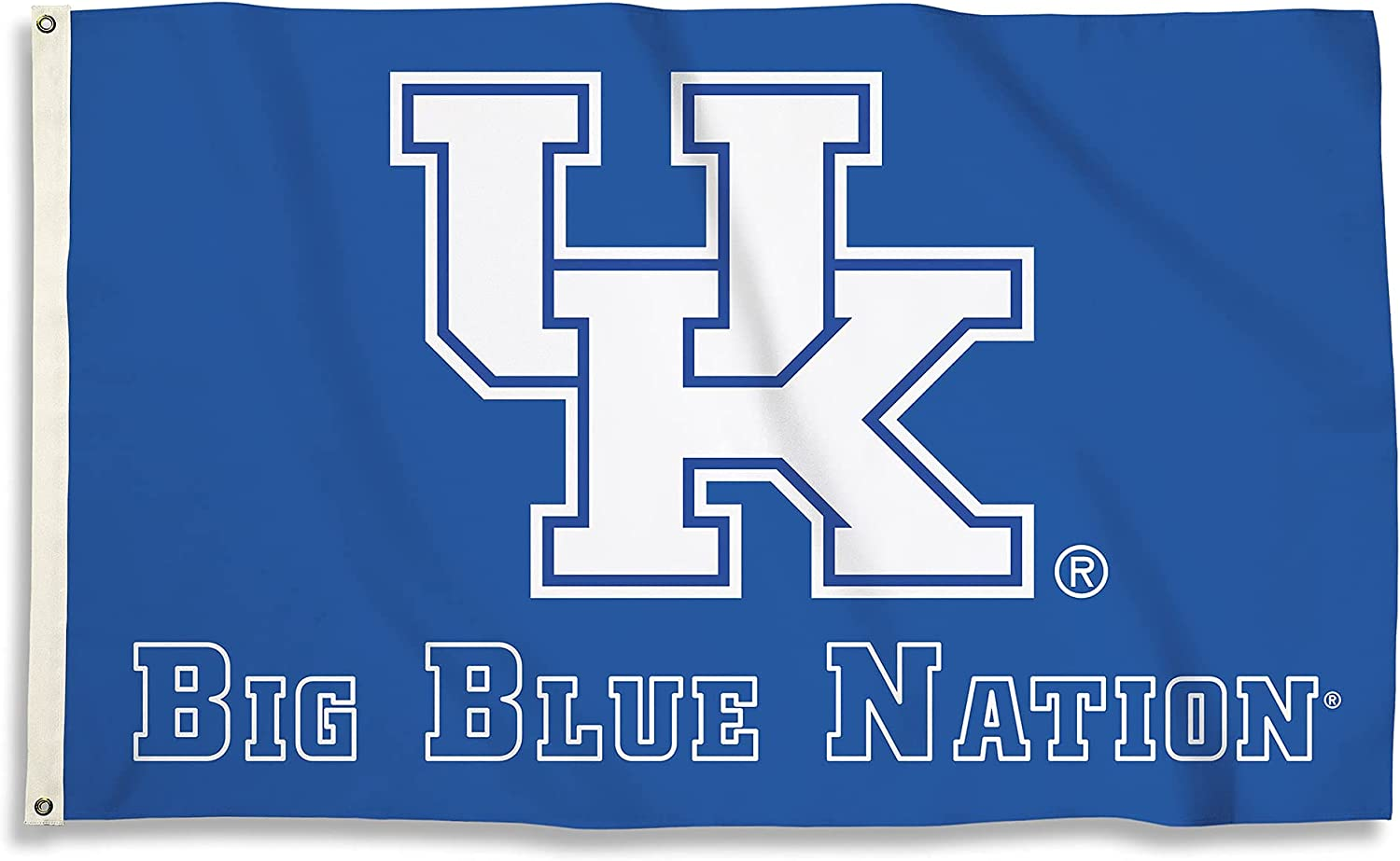 BSI PRODUCTS, INC. - Kentucky Wildcats 3'x5' Flag with Heavy-Duty Brass Grommets - UK Football, Basketball & Baseball Pride - High Durability - Designed for Indoor or Outdoor Use - Great Gift Idea