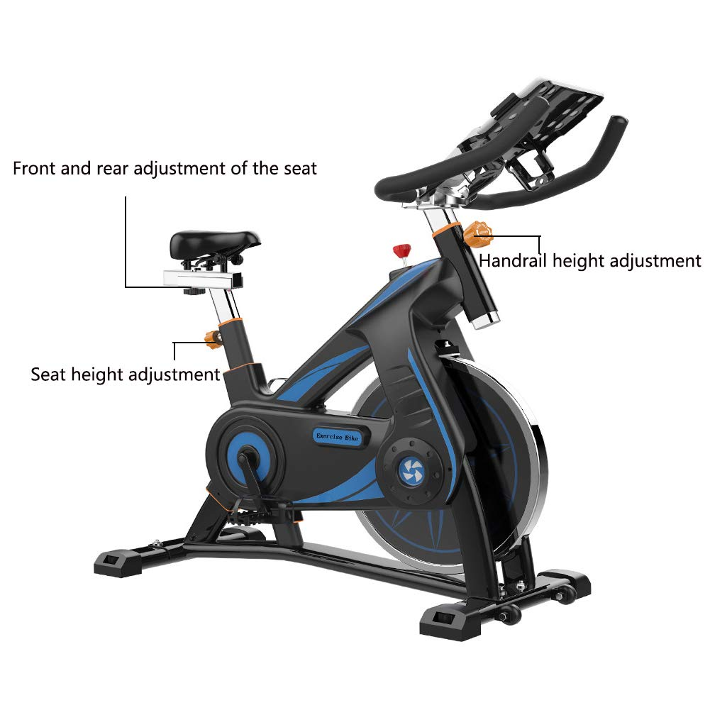 Bicicleta Spinning Profesional,Bicicleta Estatica La Aplicación Multifunción lee el Tiempo del Ritmo Cardíaco etc,Resistencia Variable Asiento Ajustables Bici Spinning Máxima de Carga 200kg: Amazon.es: Deportes y aire libre