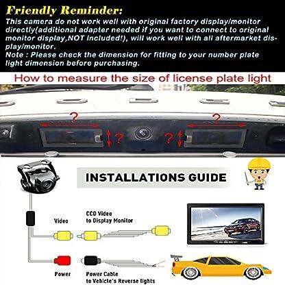 Farb-Rueckfahrkamera-integriert-in-die-Nummernschildbeleuchtung-LED-Kennzeichenbeleuchtung-Kamera-mit-Distanzlinien-fuer-Opel-Vectra-C-Caravan-Mokka-Cadillac-Buick-Chevrolet-Trax-Aveo-Lacrosse