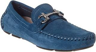 SALVATORE FERRAGAMO Parigi Suede Loafer, 8.5 Eee, Blue