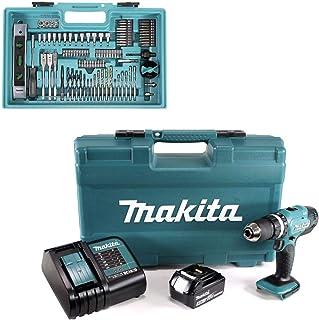 Makita DHP453FX12 18v Combi Drill with 1x 3.0Ah Battery & 101 Pcs Accessory Set, 18 V