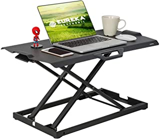 Sit-Stand Desk Height Adjustable Standing Desk Converter Ultra Slim Portable Desk Riser Workstation for Laptop Monitor Ful...