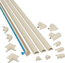 D-Line 2010KIT003 Multipack De Canaleta Para Cableado, Magnolia, 20x10mm (Micro), Set de 4 Piezas