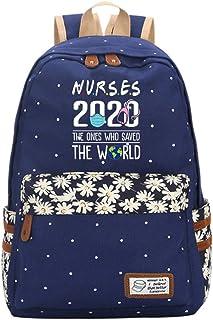Mochila para niños Enfermeras el Que salvó el Mundo Ocio con Estilo Mochila Mochila de Gran Capacidad Impreso Schoolbag Informal for niños y niñas (Color : BLUE02, Size : 30 X 15 X 42cm)
