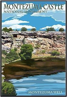 Montezuma Castle, Arizona - - Montezuma Well (12x18 Framed Gallery Wrapped Stretched Canvas)