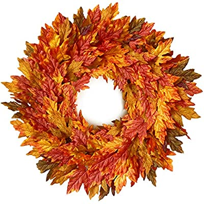 Tiny Land 26 Inch Fall Wreath for Front Door - Gift Box Included - Handcrafted Rattan Base - for Autumn & Thanksgiving Day