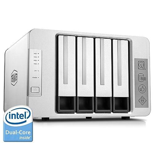 TerraMaster F4-220 Serveur de Stockage en Nuage NAS 4 Baies Intel Dual-Core 2.4GHz Stockage Raid (sans Disque)