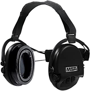 MSA Sordin Supreme PRO with black cups - Neckband - Electronic Earmuff equipped with comfortable ear-seals, slim-design