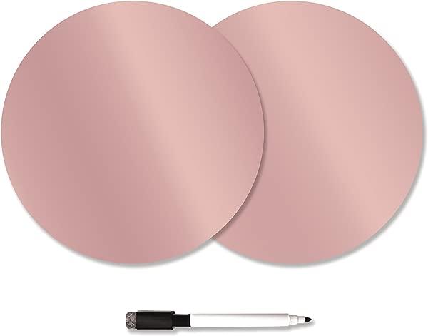 WallPops WPE2337 Rose Gold Dry Erase Dots Pink