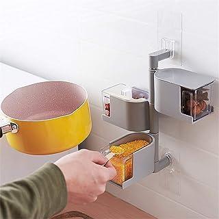 Distributeur Épices Transparent Rangement Assaisonnement Box Set Coffret Assaisonnement Rotatif Cuisine Stockage Boîte Épi...