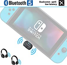 Friencity Bluetooth Audio Transmitter Adapter for Nintendo Switch PC PS4, USB C Connector Wireless Dongle Adapter Pair to Bluetooth Headphone/Speaker, in-Game Voice Chat, Dual Link aptX LL,Plug&Play