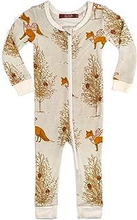 MilkBarn Bamboo Christmas Zipper Pajama - Christmas Fox (6-9 Months)