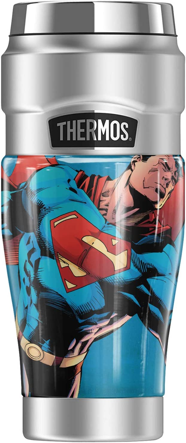 Superman Character THERMOS STAINLESS Travel 高品質 Stainless KING 大好評です Steel