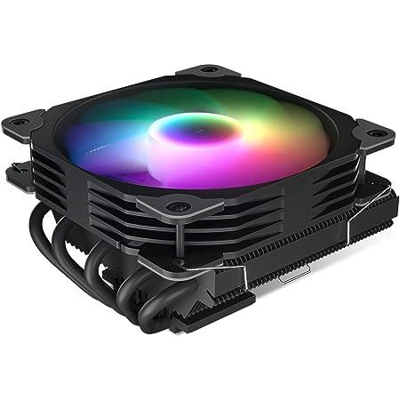 Vetroo L5 Black Low Profile CPU Air Cooler for AMD Ryzen AM4/Intel LGA1200 115X w/ 5 Heatpipes and 120mm Quiet PWM Fan