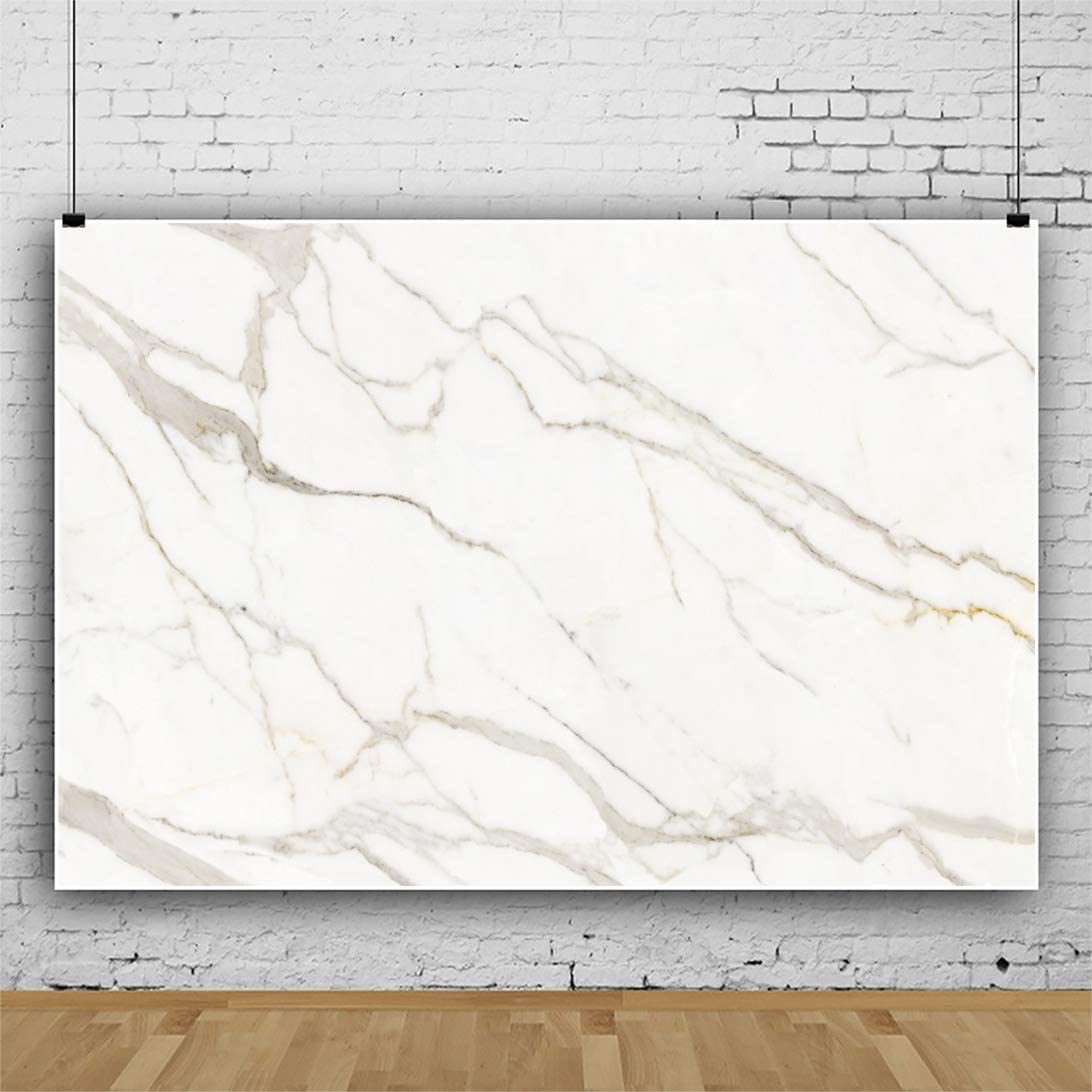 OFILA Polyester Fabric Marble Backdrop 7x5ft Marble Photography Background for Cake Marble Texture Background Pictures Marble Photos for Products Background Video Backdrop Props