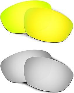 Hkuco Plus Mens Replacement Lenses For Oakley Straight Jacket (2007) 24K Gold/Titanium Sunglasses