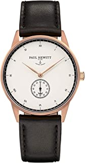 Paul Hewitt Unisex Analogue Quartz Watch with Leather Strap PH-M1-R-W-2M
