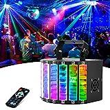 DJ Lights, LaluceNatz 30W 48 Lens Portable Stage Lights Sound Activated Strobe Lights Led Lights for Party, Wedding, Birthday, Festivals, Stage Lighting with DMX/Remote Control