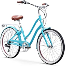 sixthreezero EVRYjourney Steel Women's Hybrid Bike with Rear Rack, 26 Inches, 7-Speed