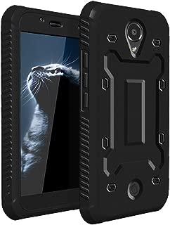 BLU R1 HD Case,SKYLMW Dual Layer Hybrid With [Built in Screen Protector ] Slim Protective Case for BLU R1 HD 2016 Black