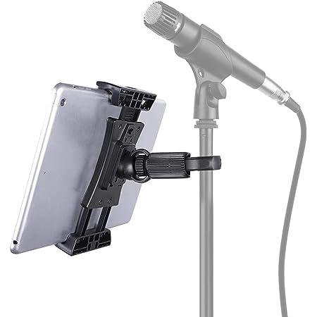 Tensun Tablet Halterung Für Mikrofonständer 360 Grad Drehung Mikrofon Musikstand Kompatibel Mit Ipad Ipad Pro Ipad Air Google Nexus Samsung Galaxy Musikinstrumente