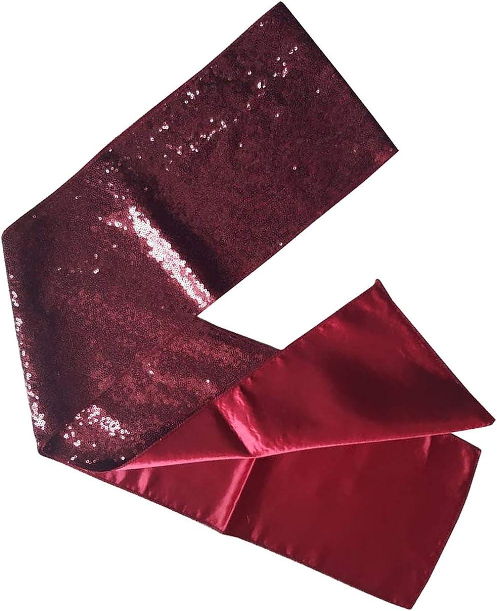 KVR Fashion Party Dance Vintage Sparkle Long girl teen Sequin polyester net scarf headband cum waist belt