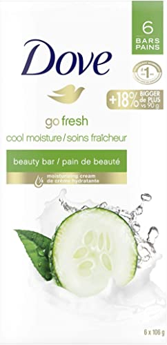 Dove Refreshing Beauty Bar for Revitalized Skin Cucumber and Green Tea 106 g 6 count