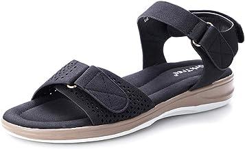 Women's Flat Sandals Ankle Strap Open Toes Adjustable Comfortable Walking Athletic Sandal Slides for Summer