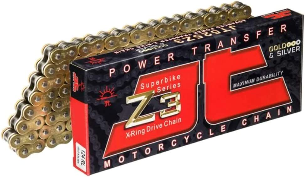 JT Chain JTC520Z3GS104RL Ranking TOP20 Gold safety Silver Super Heavy 104-Link 520Z3