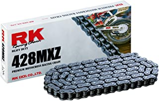 RK Racing Chain 428MXZ-122 122-Links MX Chain with Connecting Link