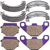 ECCPP 706 FA67 Replacement Brake Pads Brake Shoes Kits Fit for 1988-2004 Kawasaki Bayou 300 KLF300B
