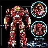 Leileixiao De acción de Juguete Figura de acción Luminosa 18cm Hulkbuster Máquina Funkos Pops Avenger Alianza Iron Man Marcos con luz LED Armadura móvil (Color : Ordinary Version)