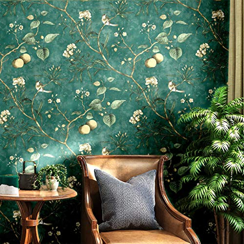 Vintage Floral Apple Tree Wallpaper Wall Mural in Bathroom Kitchen Livingroom,Large Size,57 Square ft/roll (6313)