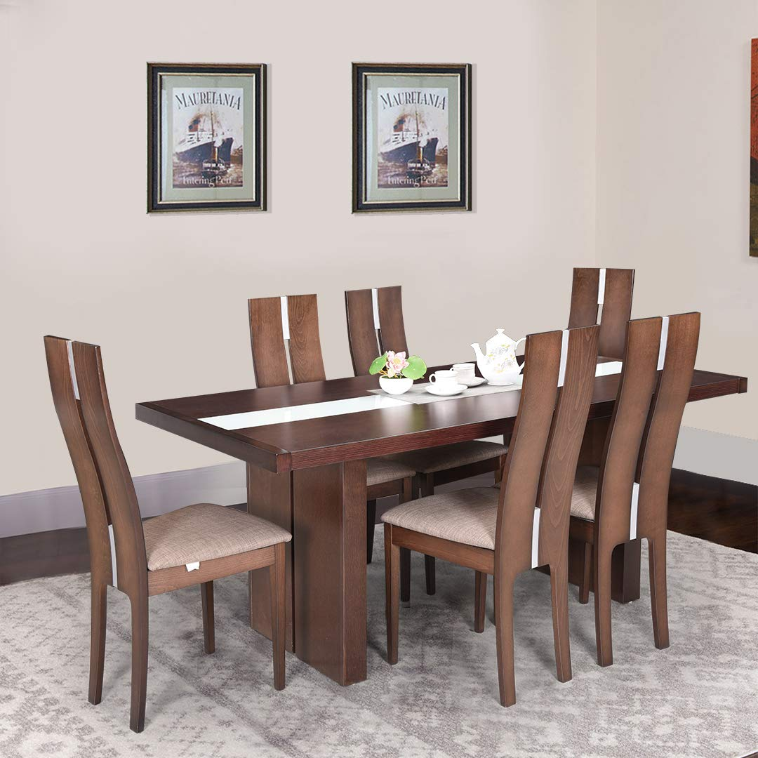 Royal Oak Tosh Six Seater Dining Table Set Walnut