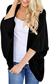 Lightweight Fall Cardigan for Women 3/4 Sleeve Solid...