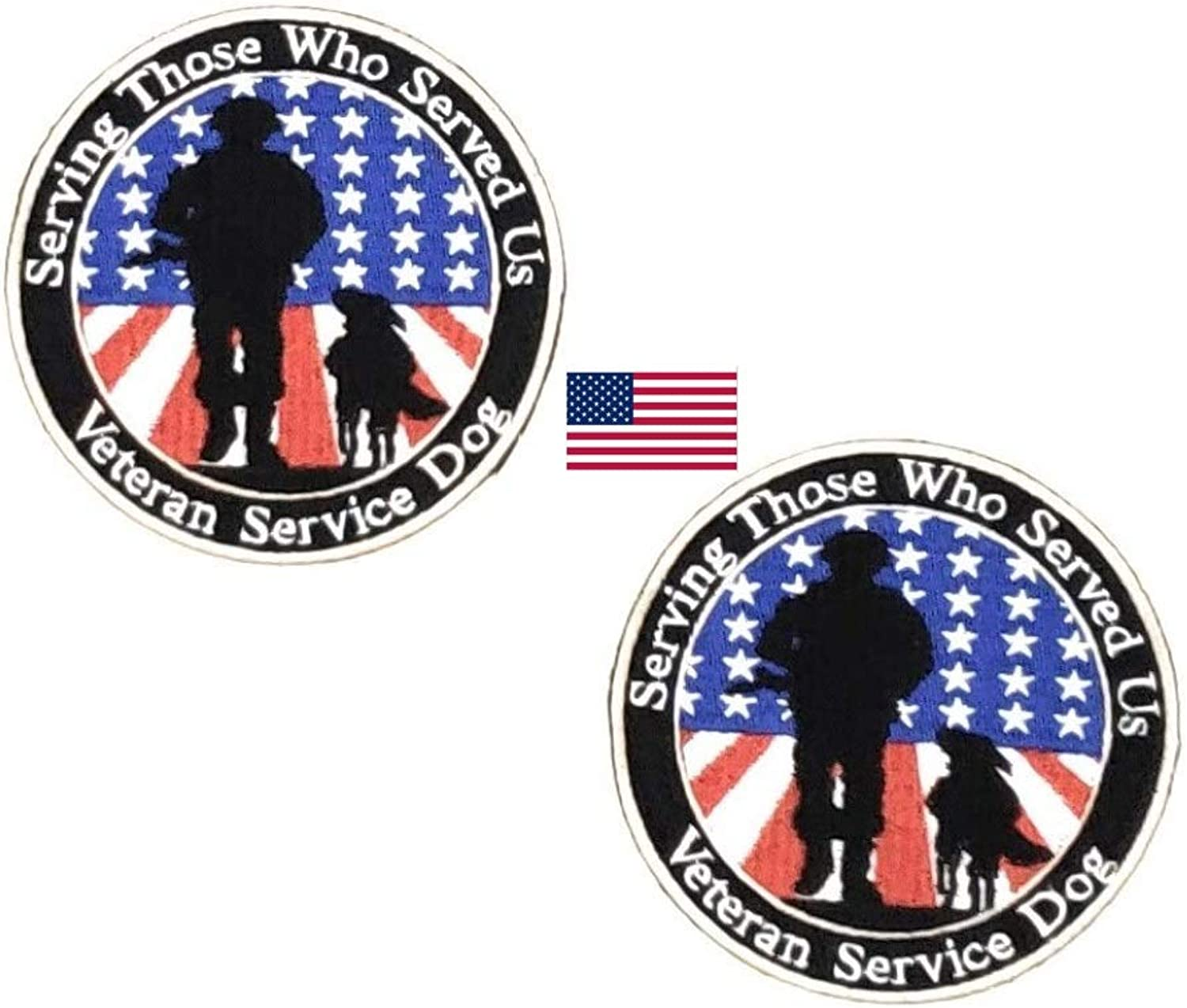 Furbaby Products Service Dog Patch for a Veteran DO NOT PET Removable Patch for Service Dog Harnesses & Vests. Service Dog Patch for Veteran (TwoPack, 4 Inches)