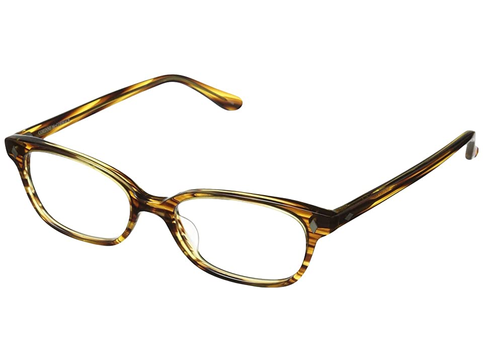 Corinne McCormack Cyd Reading Glasses (Brown/Yellow) Reading Glasses Sunglasses